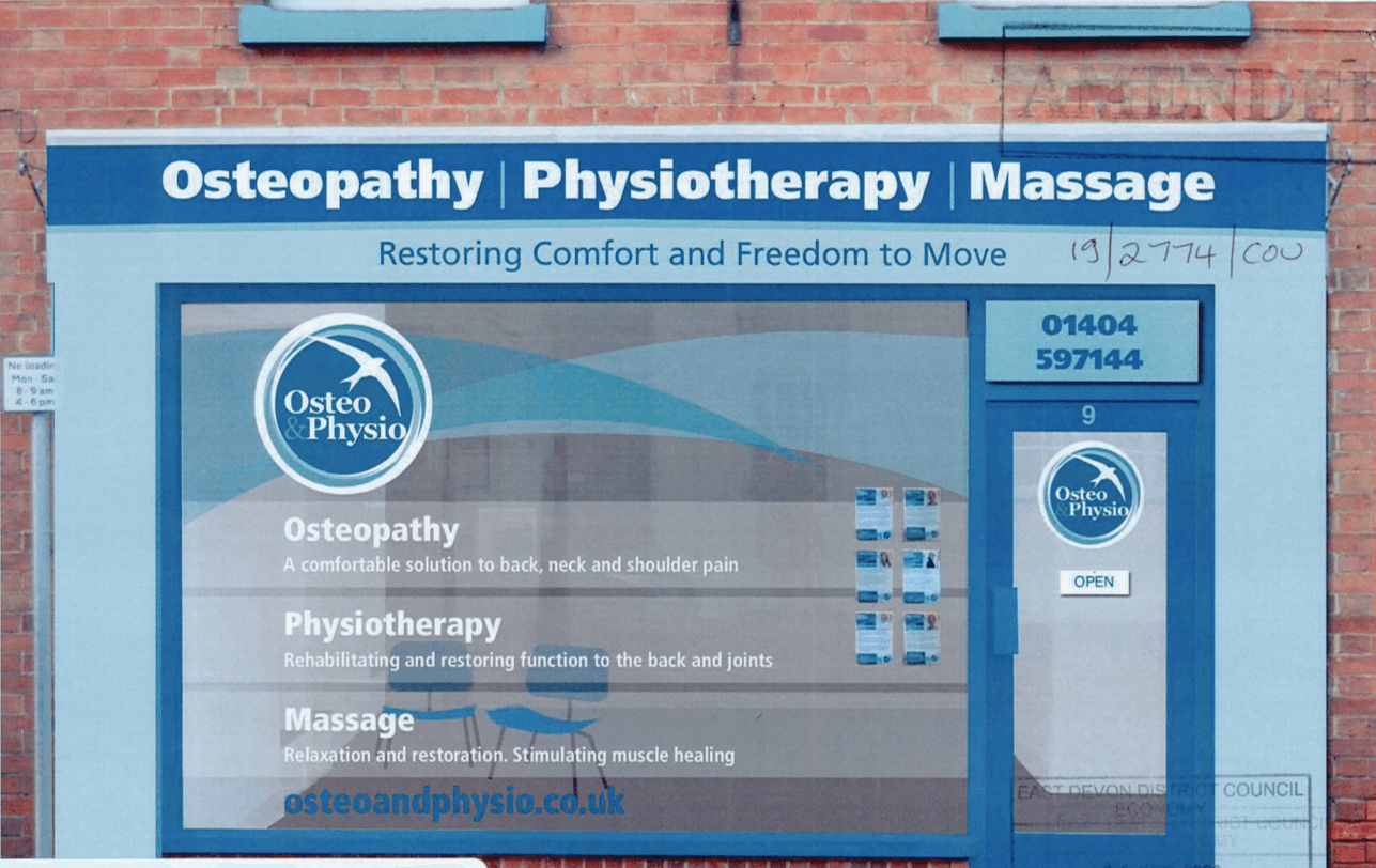 An artist's impression from the planning application of how the front of the Jesu Street osteopathy and physiotherapy clinic will look. Image: Oliver Wakefield