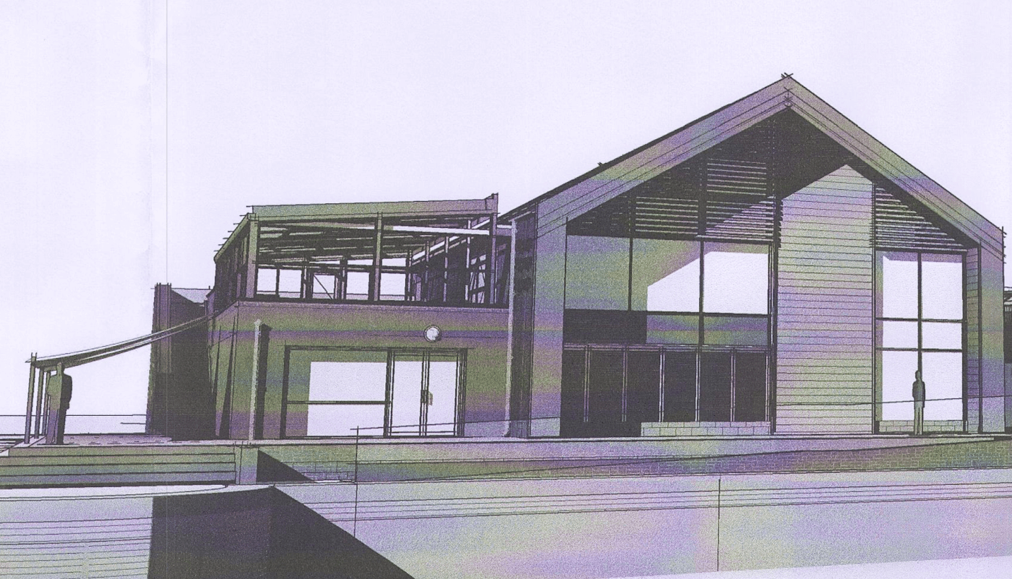 An artist's impression of the new Exmouth watersports centre - complete with retractable glass canopy on the first-floor terrace - included in the planning application. Picture: Grenadier/PBWC Architects