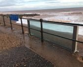 Glass Sidmouth sea barrier survives Storm Dennis 'bar two small chips'