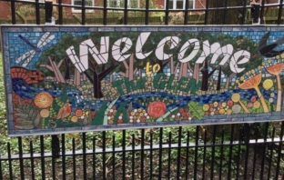 The new mosaic at The Glen in Honiton. Picture: EDDC