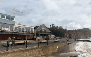 An artist's impression of the Rockfish restaurant on the seafront Drill Hall site in Sidmouth.