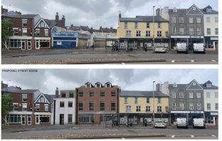 Before and after? How the student flats in Blackboy Road, Exeter, could look.