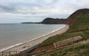 Jacob's Ladder beach in Sidmouth.