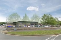An artist's impression of the bigger Aldi supermarket in Pinhoe, Exeter.