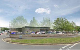 An artist's impression of the bigger Aldi supermarket in Pinhoe, Exeter.