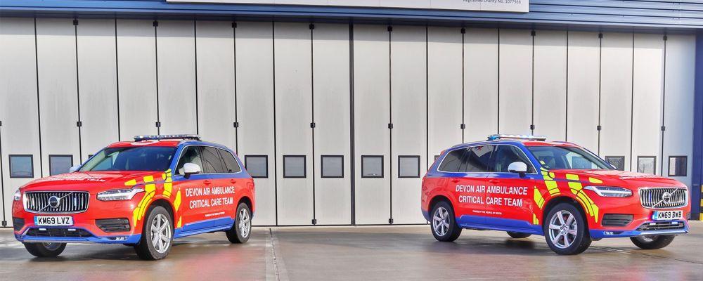 Critical care cars. Picture: Devon Air Ambulance