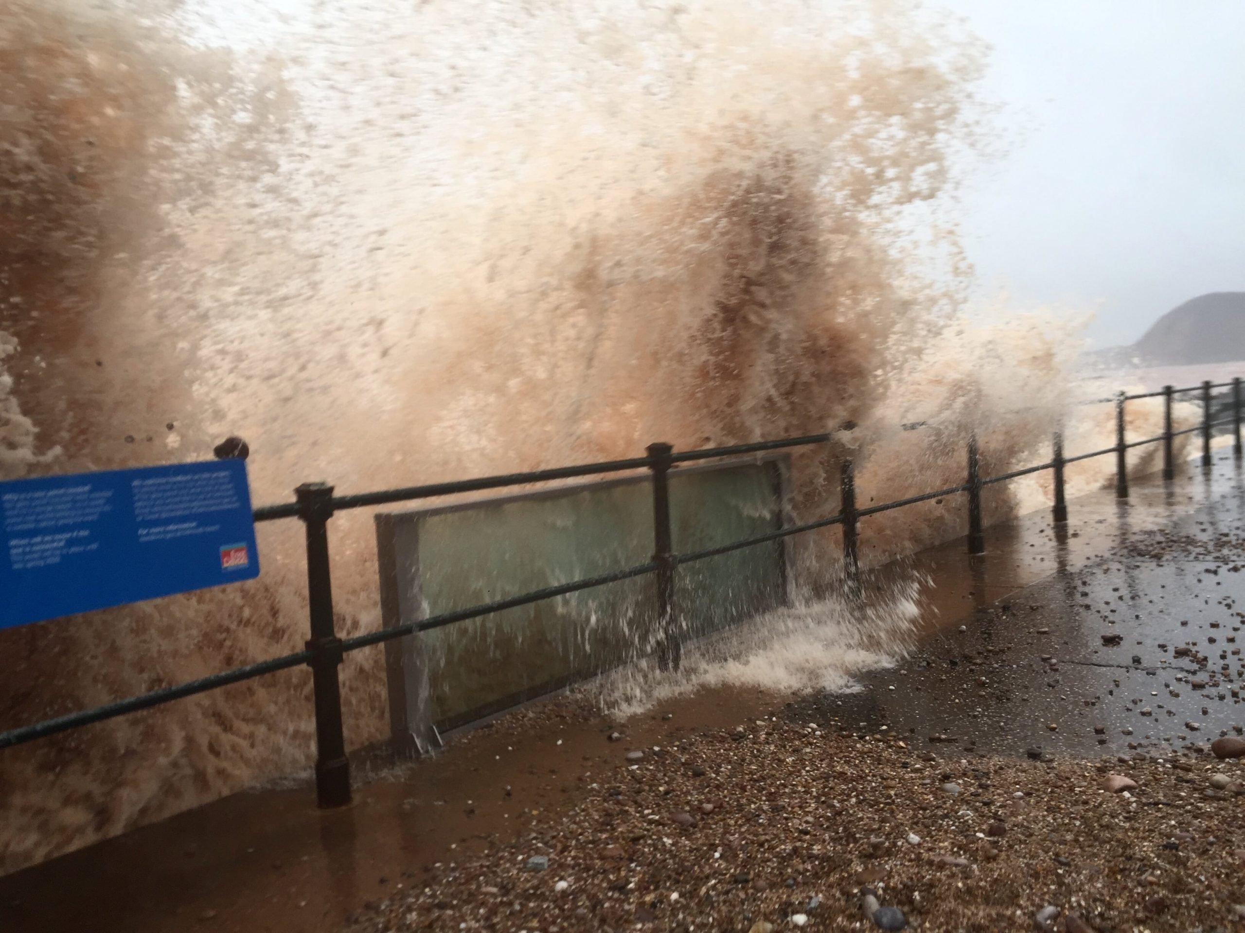 The panel on Sidmouth seafront escaped a pounding from Storm Dennis last month relatively unscathed. Picture: Simon Horn LRPS