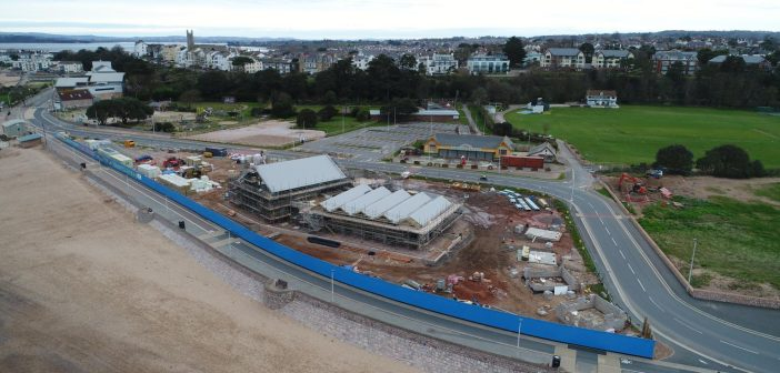 Work on new Sideshore watersports centre on Exmouth seafront is paused