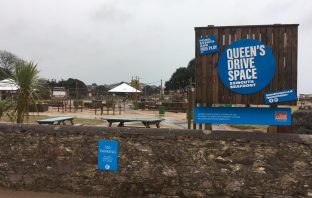 The Queen's Drive space on Exmouth seafront.