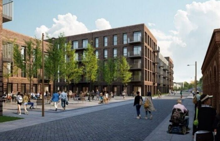 An artist's impression from the Eutopia Homes planning application for land off Prince Charles Road in Exeter.