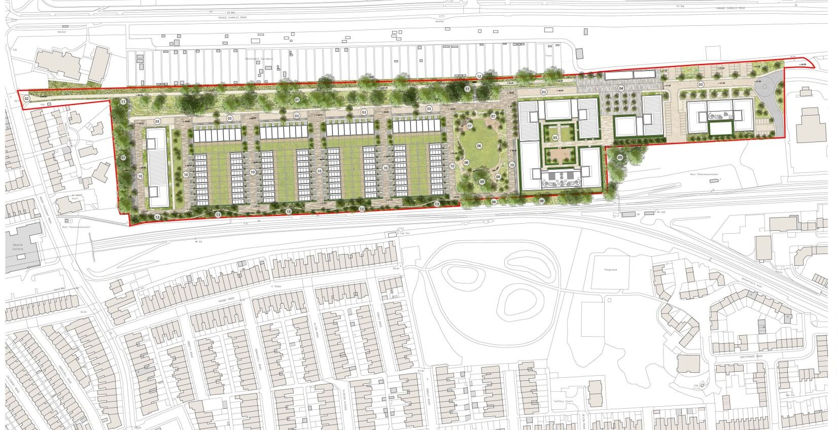 Plans for the site near to Morrisons in Exeter.