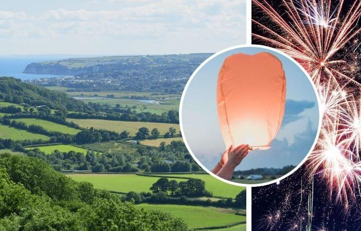 Chinese lanterns and fireworks were a recent topic of discussion for East Devon District Council.