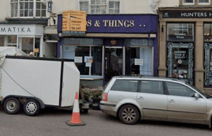 Plans have been submitted to turn 96 High Street in Honiton, pictured here with the 'To Let' sign in August last year, into a hot food takeaway. Picture: Google Maps