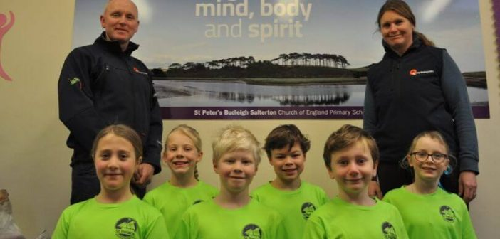 Budleigh pupils enjoy the rub of the green as new sport tops bring luck