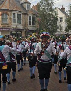 A scene from Sidmouth Folk Festival 2019.