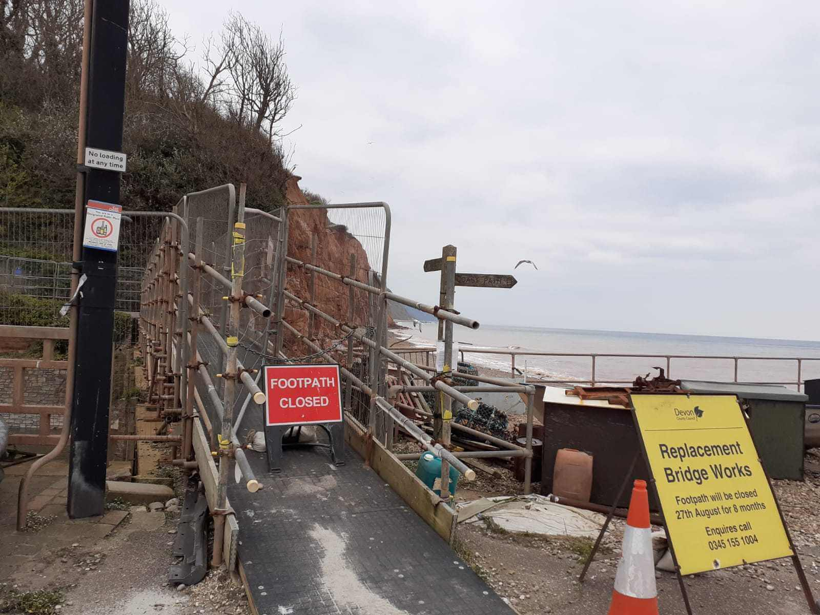 Shut: Alma Bridge in Sidmouth.