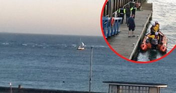 'Non-essential' boat use warning after Exmouth RNLI rescues duo from grounded catamaran