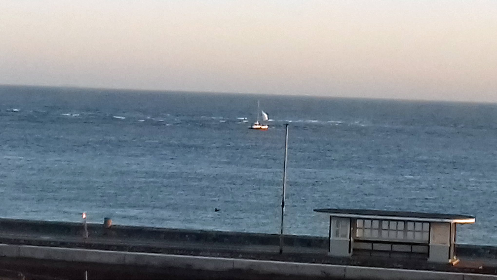 The Catamaran rn aground on Pole Sands, Exmouth. Picture: Lynne Tregenna Wood