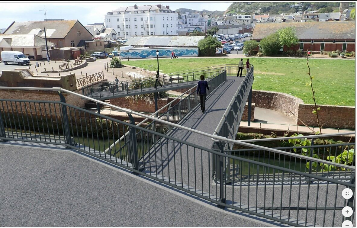 An artist's impression of the new Sidmouth footbridge.