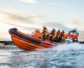 Casualty showing signs of hypothermia cut off by tide at Budleigh is saved by rescuers