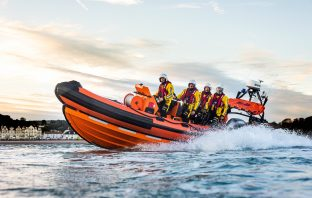Stock photo of Sidmouth Lifeboat in action. Image courtesy of Kyle Baker Photography & Videography