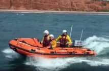 Exmouth RNLI's inshore lifeboat was launched at around 1pm. Picture: Exmouth RNLI