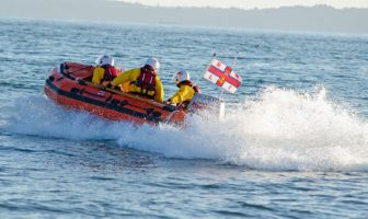 Exmouth RNLI inshore lifeboat Peggy D launches to the call in Budleigh Salterton. Picture: Exmouth RNLI
