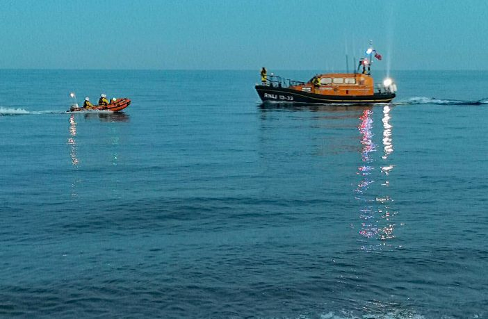 Both Exmouth RNLI lifeboats launch to the rescue. Picture: Exmouth RNLI