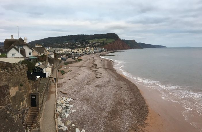 Sidmouth seafront.