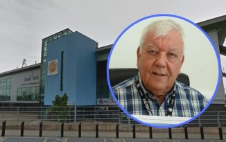 Exeter Chiefs CEO Tony Rowe. Background image of Sandy Park courtesy of Google Maps
