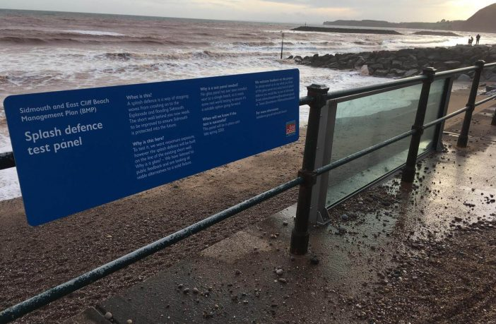 The glass panel on The Esplanade in Sidmouth. Picture: Daniel Clarke