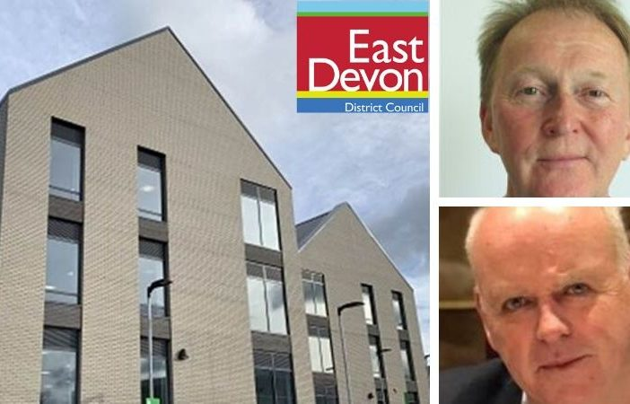 Top, right: former East Devon District Council leader Cllr Ben Ingham. Bottom, right: Cllr Paul Arnott, leader of the Democratic Alliance.