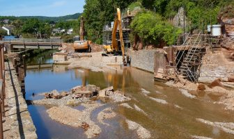 Alma Bridge is no more on the River Sid in Sidmouth. Picture: Simon Horn LRPS