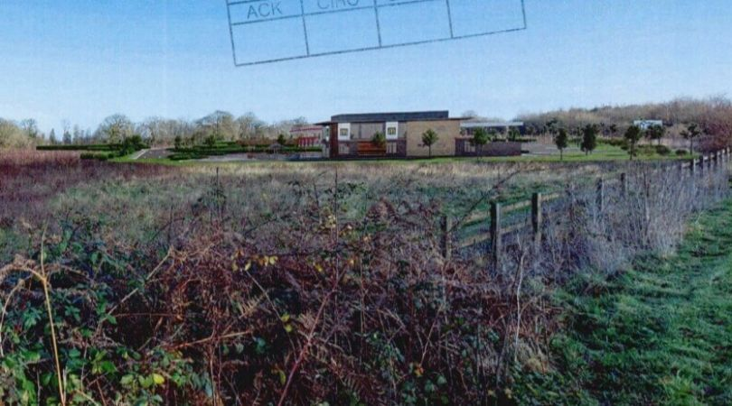 CGI image for the proposed Daisymount service station and McDonald's scheme near Ottery St Mary. Image from the planning application.