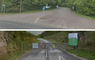 Recycling centres in Exmouth (above) and Sidmouth (below). Images: Google Maps