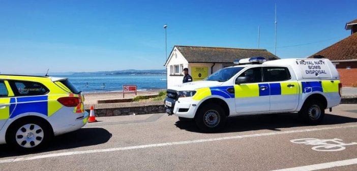 VIDEO & PHOTOS: Bomb squad remove non-explosive device from Exmouth beach
