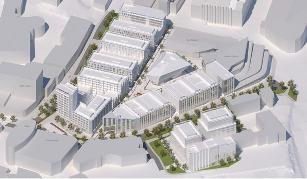 An artist's impression of the Exeter city centre redevelopment. Image: Exeter City Council