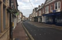 High Street in Budleigh Salterton.