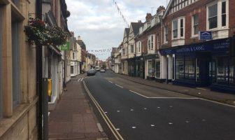 High Street in Budleigh Salterton.