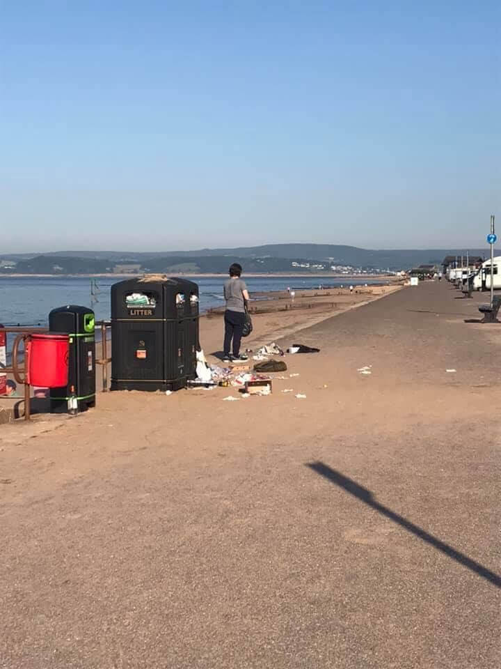 Rubbish left on Exmouth seafront. Picture: Sally Skinner