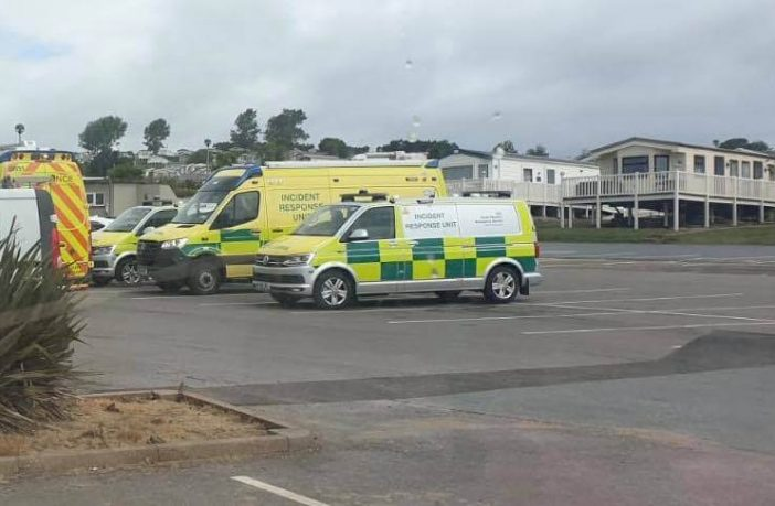 The emergency services were called to am area of beach between Sandy Bay and Rodney Bay, at Exmouth.