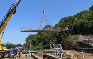 The new footbridge in Sidmouth. Picture: Devon County Council