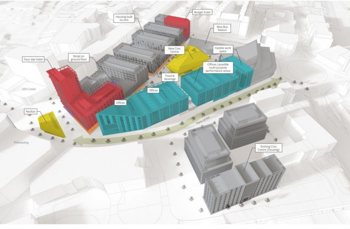 The different land used proposed in the CityPoint scheme. Image: Exeter City Council