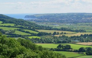 The East Devon countryside.