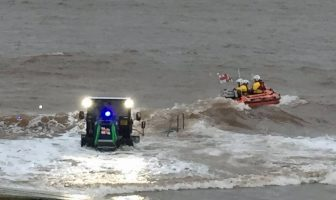 The Exmouth RNLI inshore lifeboat launches to the rescue. Picture: Chris Sims/RNLI