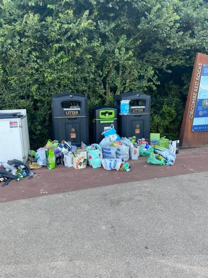 Litter left behind on Exmouth seafront. Picture: EDDC
