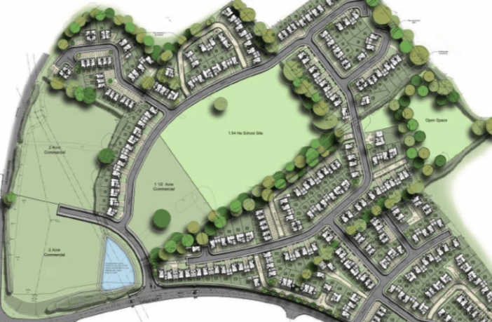 Plans for the site off Hulham Road and Dinan Way in Exmouth. Image: Eagle Investments Ltd/ ARA Architecture
