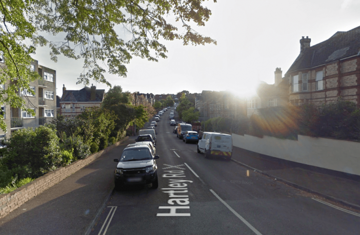 Stock photo - Hartley Road in Exmouth. Image: Google Maps