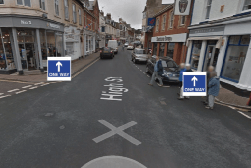 Budleigh Salterton High Street will become one-way.