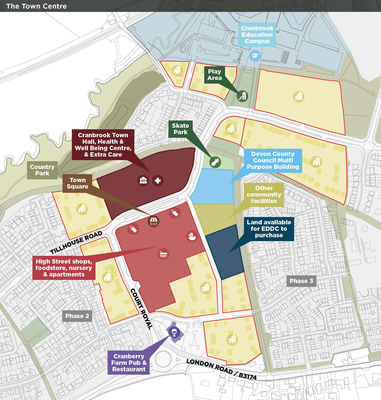 The Cranbrook Consortium proposals for the town centre. Image: Cranbrook Town Council